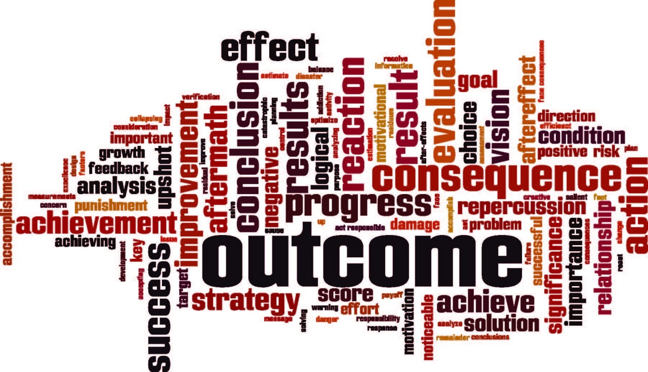 The difference between a target, an output, and an outcome